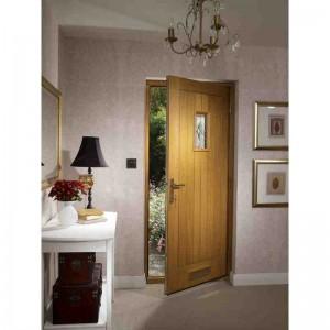 Exterior Oak Veneer Chancery Triple Glazed M&T Door Set