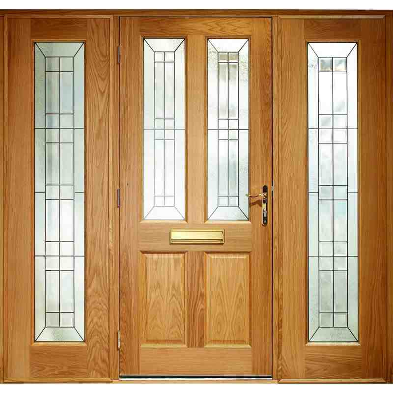 Exterior oak veneer malton triple glazed m t door set for Triple french doors exterior