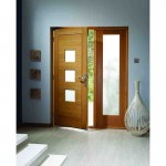 Exterior Oak Veneer Obscure Glazed Turin M&T Door Set
