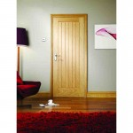 Exterior Oak Veneer Suffolk M&T Door Set