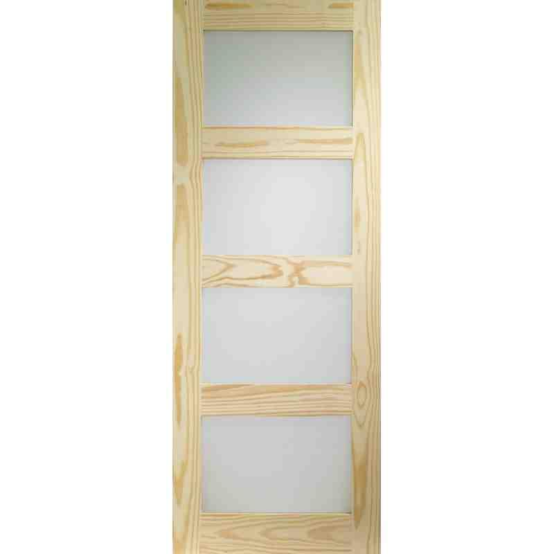 Pine Obscure Glazed 4 Panel Chislehurst Doors