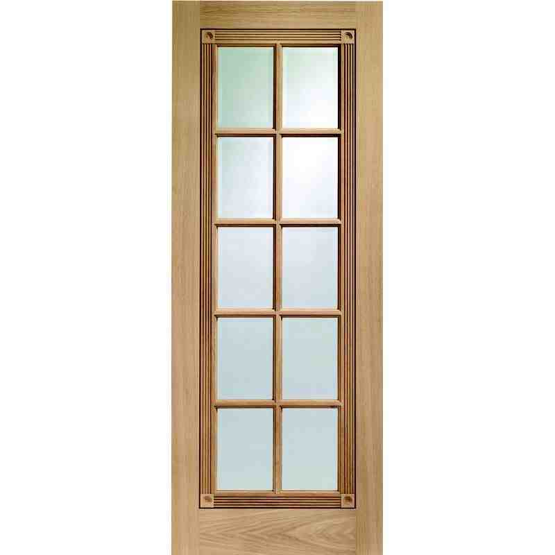 Interior Oak Veneer Clear Glazed Euston  sc 1 st  Chislehurst Doors & Clear Glazed Euston   Chislehurst Doors
