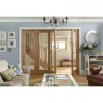 Interior Oak Veneer Clear Glazed Pattern 10 Room Divider