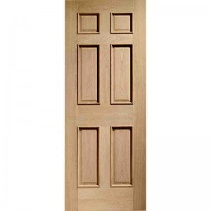 Interior Oak Veneer Colonial 6 Panel Raised Mouldings