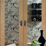 Interior Oak Veneer Pattern 10 Door Pairs with Clear Glass