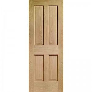 Interior Oak Veneer Victorian 4 Panel