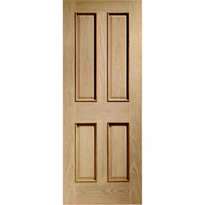 Interior Oak Veneer Victorian 4 Panel Raised Mouldings