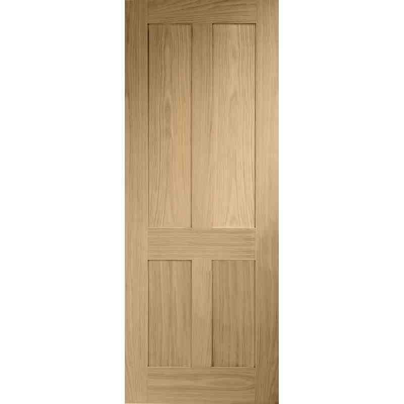 Interior Oak Veneer Victorian Shaker 4 Panel Door