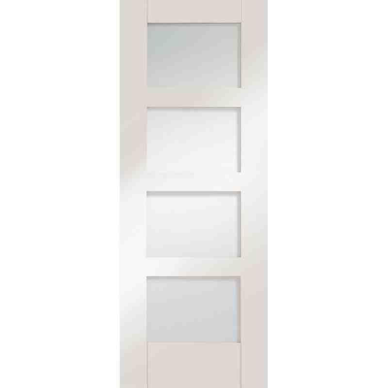 White Glazed 4 P Shaker Chislehurst Doors