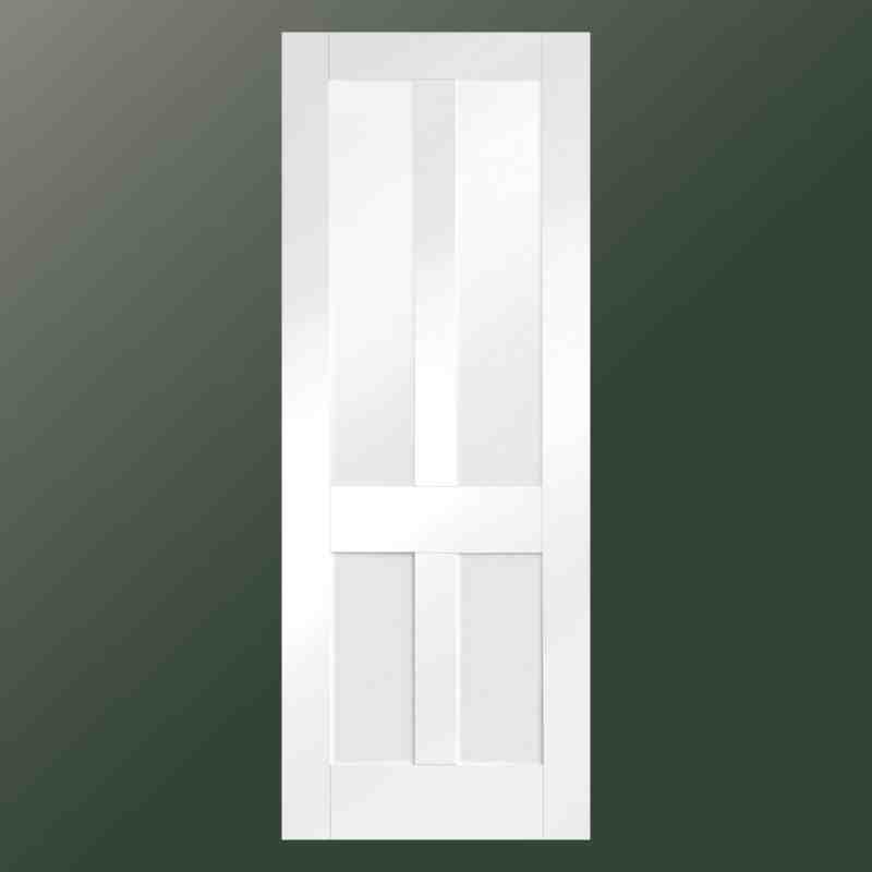 Interior glazed white primed doors product categories interior white primed malton shaker 4 panel with clear glass planetlyrics Images