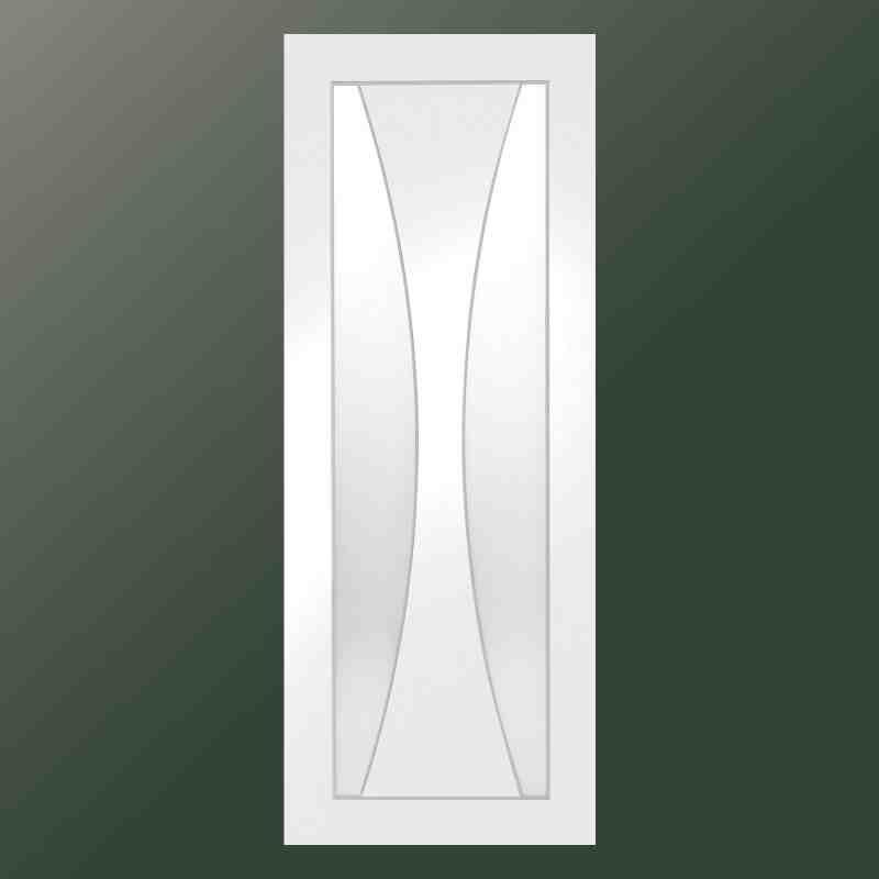 White Verona Clear Glass Chislehurst Doors