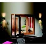 6ft Exterior Oak Veneer Pre-finished La Porte Vista Folding Doors