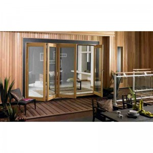 Exterior 10ft Oak Veneer Folding Doors