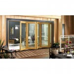 Exterior 12ft Oak Veneer Folding Doors