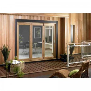 Exterior 6ft Oak Veneer Folding Doors