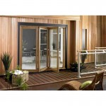 Exterior 7ft Oak Veneer Folding Doors
