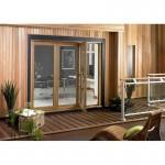 Exterior 8ft Oak Veneer Folding Doors
