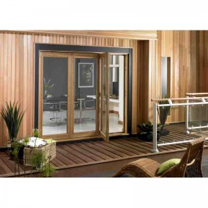Exterior 8ft Oak Veneer Folding Doors