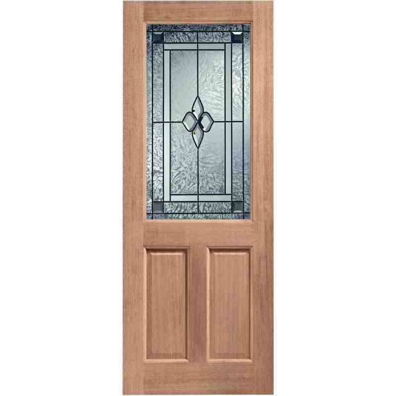2xg coleridge glazed chislehurst doors for Hardwood front doors