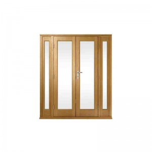 Exterior Pattern 10 Oak French Doors & Side Lights