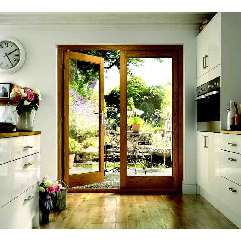 Pattern 10 oak french d chislehurst doors for French doors to deck