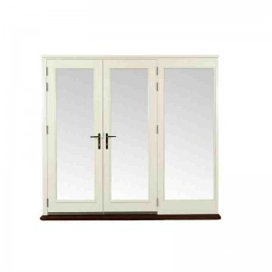 Exterior Pre-finished Pattern 10 French Doors with Side Light