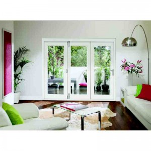 Exterior White Primed Pre-finished La Porte Vista Folding Doors - 5 Panels