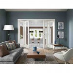 Interior White Pattern 10 Freefold System with Clear Glass [2 Doors]