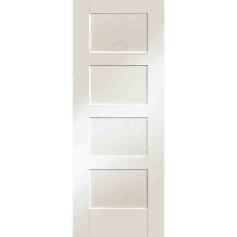 4 Panel Interior Doors : White primed shaker p chislehurst doors