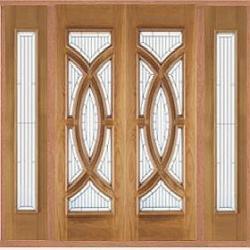 External Oak Majestic Double Door U0026 Sidelight Set