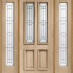External Oak Malton Diamond Sidelight Set