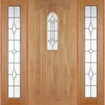 External Oak Westminster Sidelight Set